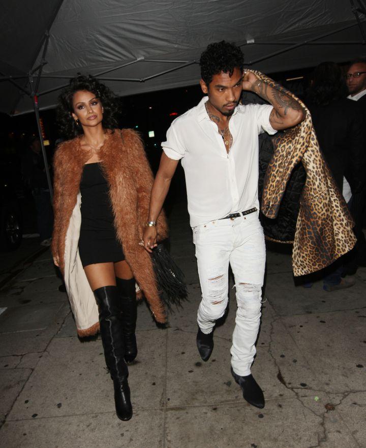 Miguel and girlfriend Nazanin Mandi.