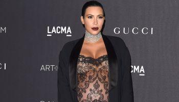 pregnant kim kardashian at 2015 LACMA Art + Film Gala