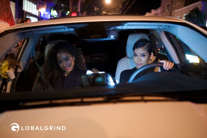 Jhene and Vashtie go for a ride in a 2016 Ford.