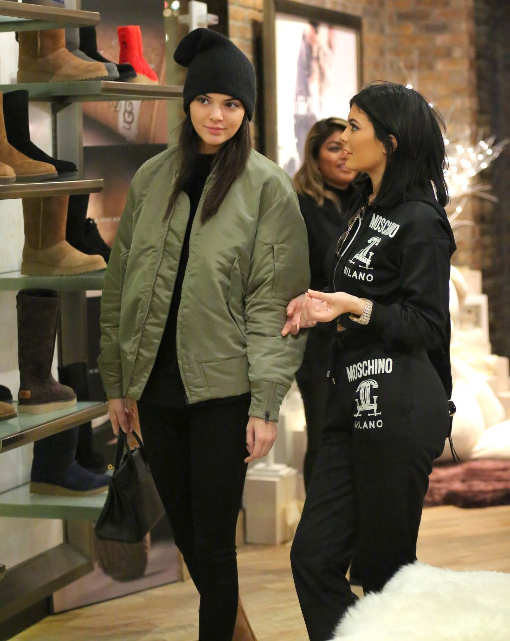 Kylie Jenner and Kendall Jenner at the UGG store in NYC