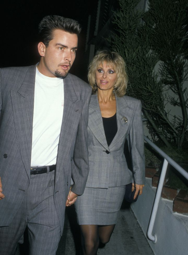 Charlie Sheen & Cathy St. George