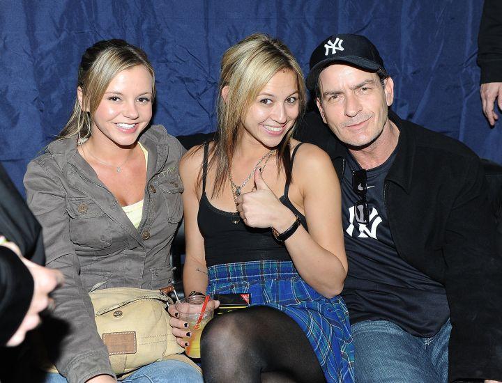 Charlie Sheen, Bree Olsen, and Natalie Kenly (The Goddesses)