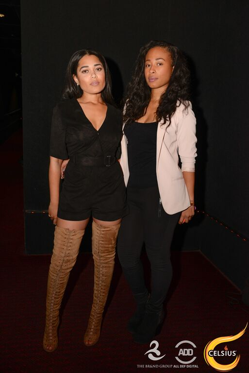 Mia and Dee of The Brand Group at the All Def comedy show in Hollywood.