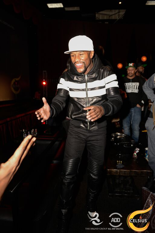 Floyd Mayweather at the All Def comedy show in Hollywood.