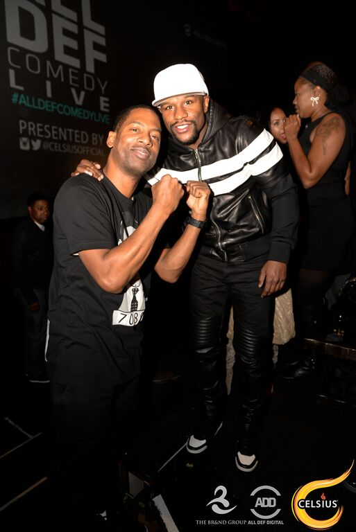 Tony Rock and Floyd Mayweather attend the All Def comedy show in Hollywood.