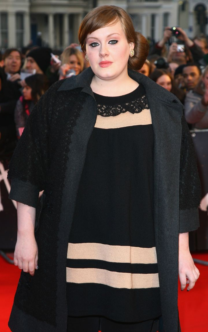 Before snagging all of the major awards, Adele was just another nominee in attendance.