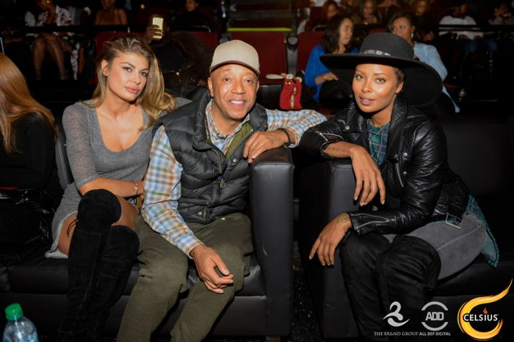 Russell Simmons and Eva Marcille at the All Def comedy show in Hollywood.