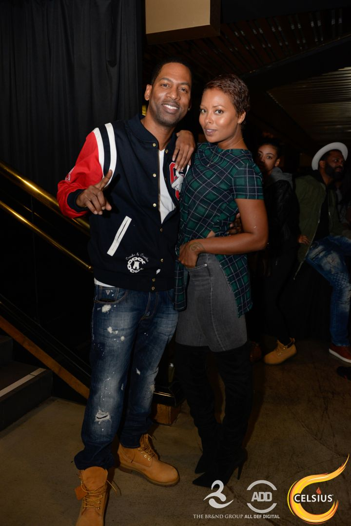 Tony Rock and Eva Marcille at the All Def comedy show in Hollywood.