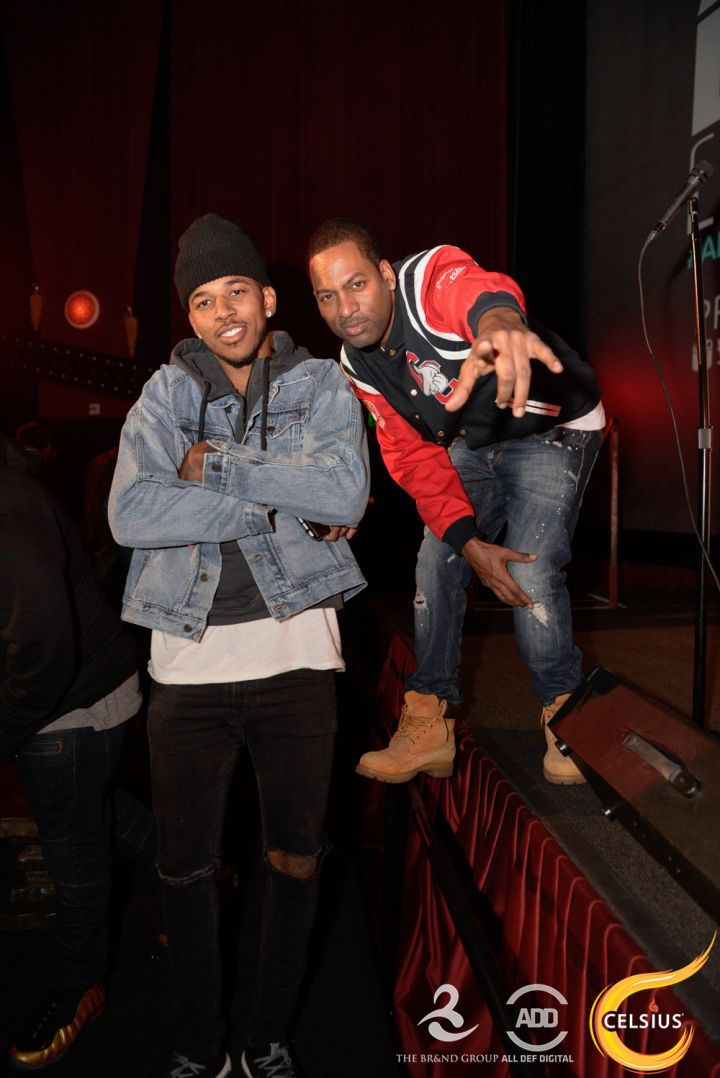 Nick Young and Tony Rock at the All Def comedy show in Hollywood.