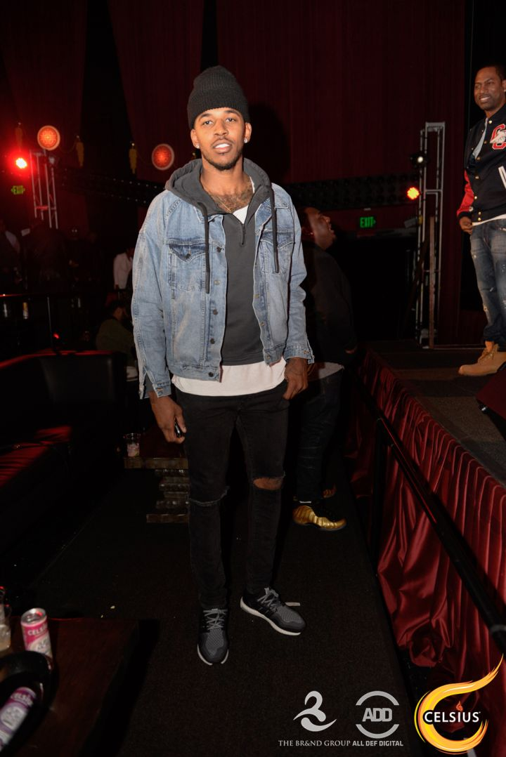 Nick Young at the All Def comedy show in Hollywood.