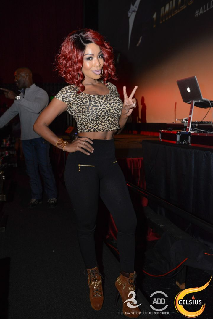 Porscha Coleman at the All Def comedy show in Hollywood.