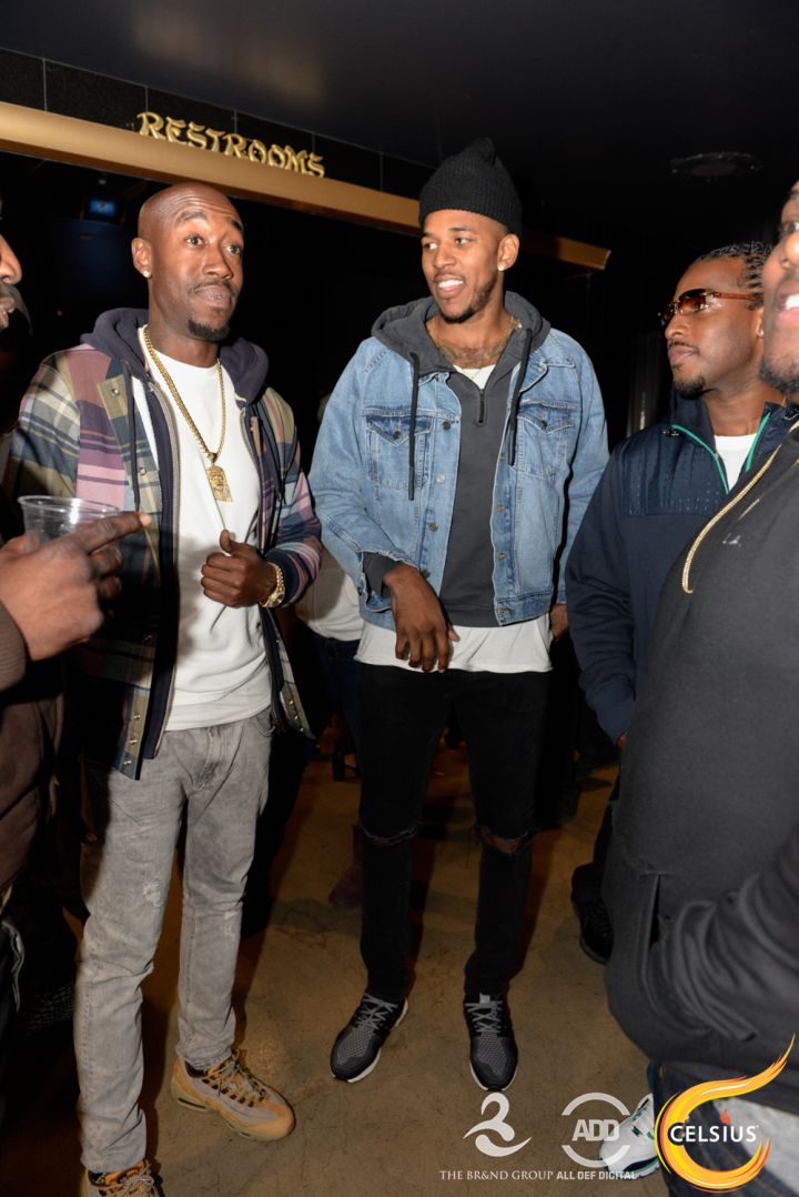 Freddie Gibbs and Nick Young at the All Def comedy show in Hollywood.