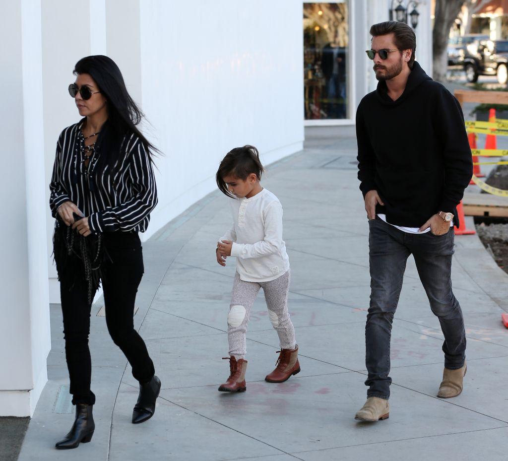 Kourtney Kardashian and Scott Disick furniture shopping with son Mason in Beverly Hills