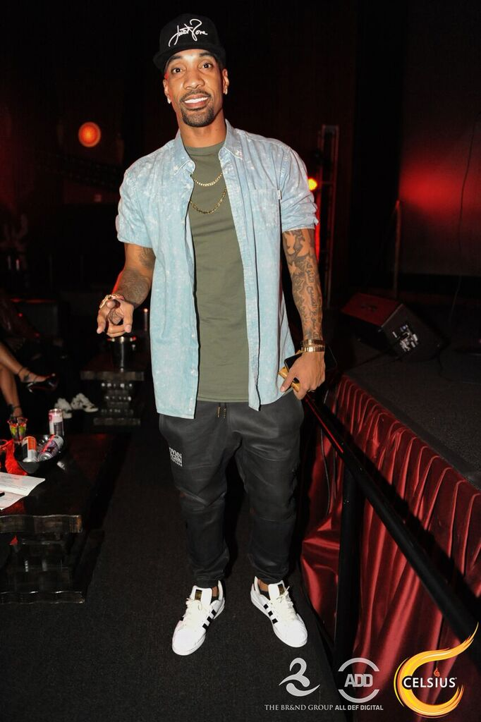 """Miles from """"Love & Hip-Hop"""" at the All Def Digital Comedy Party."""