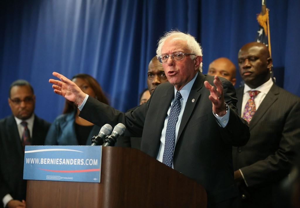 Democratic Presidential Candidate Bernie Sanders Meets With African-American Civic Leaders In Baltimore