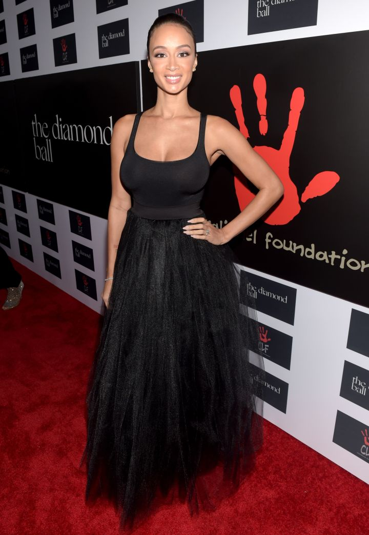 Draya rocked a classy black gown.