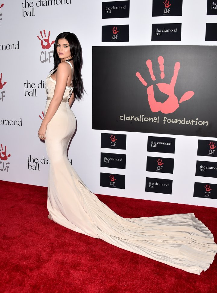 Kylie Jenner gave a major train moment.
