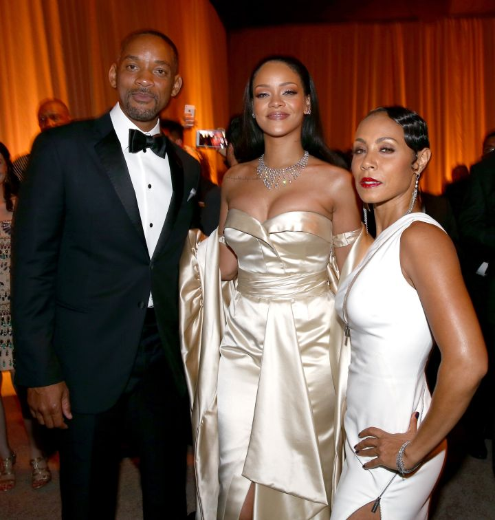 Will and Jada kick it with Rihanna