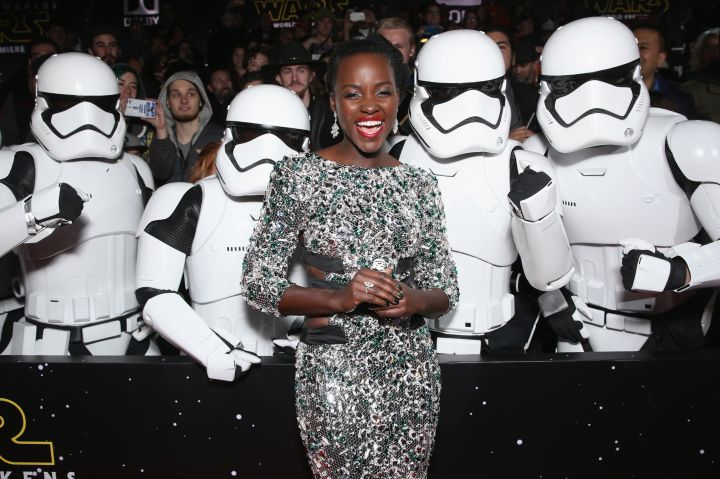 Lupita Nyong'o attends Premiere of Walt Disney Pictures and Lucasfilm's 'Star Wars: The Force Awakens.'