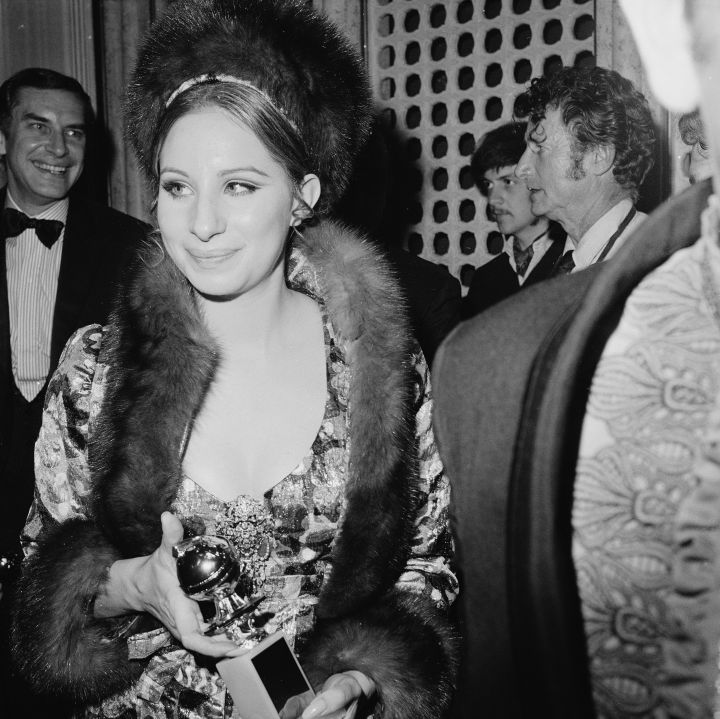Barbara Streisand glowed at the 1969 Globes.