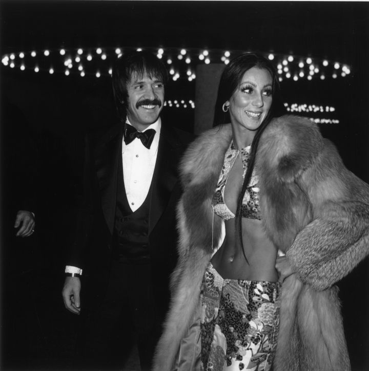 Sonny and Cher made the crowd go wild as they arrived at the Globes in 1973.