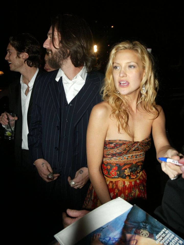 Kate Hudson got her party on at a Golden Globe after party in 2003.