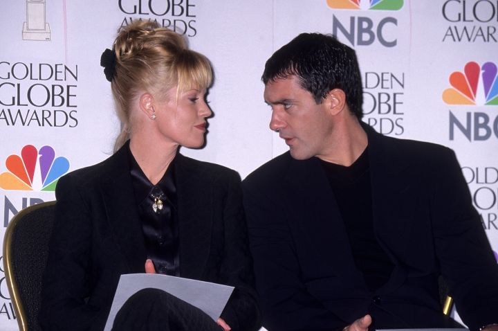 Former couple Melanie Griffith and Antonio Banderas announced the GG nominations in 1997.
