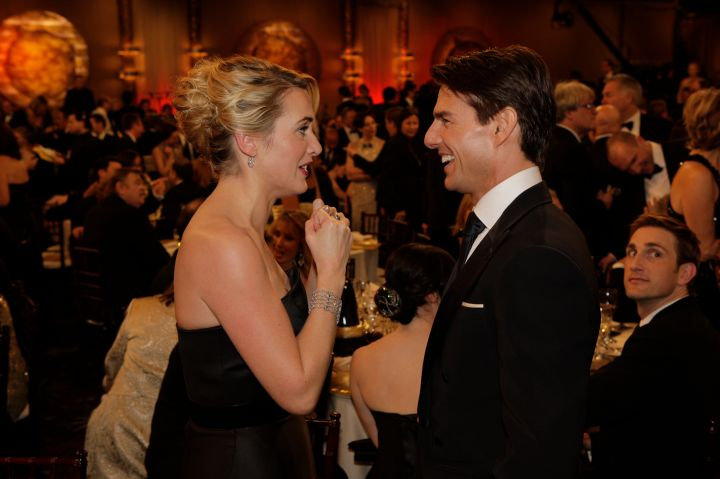 Tom Cruise and Kate Winslet had a deep convo during the break.