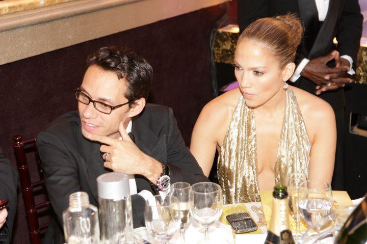 Jennifer Lopez and Mark Anthony observed the crowd.