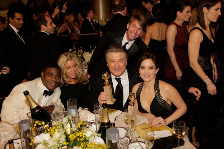 """The """"30 Rock"""" crew posed for a group photo."""