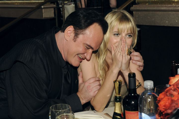 Quentin Tarentino and Sienna Miller shared some laughs.