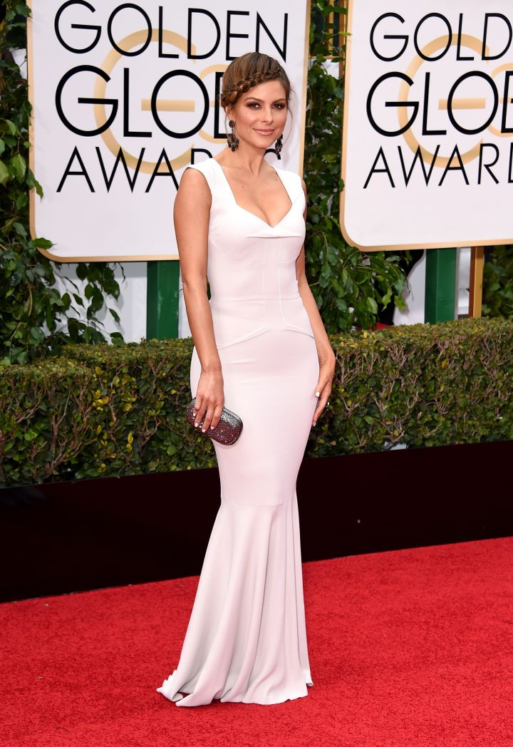 Another lady of E!, Maria Menounous came out for the Globes as well.