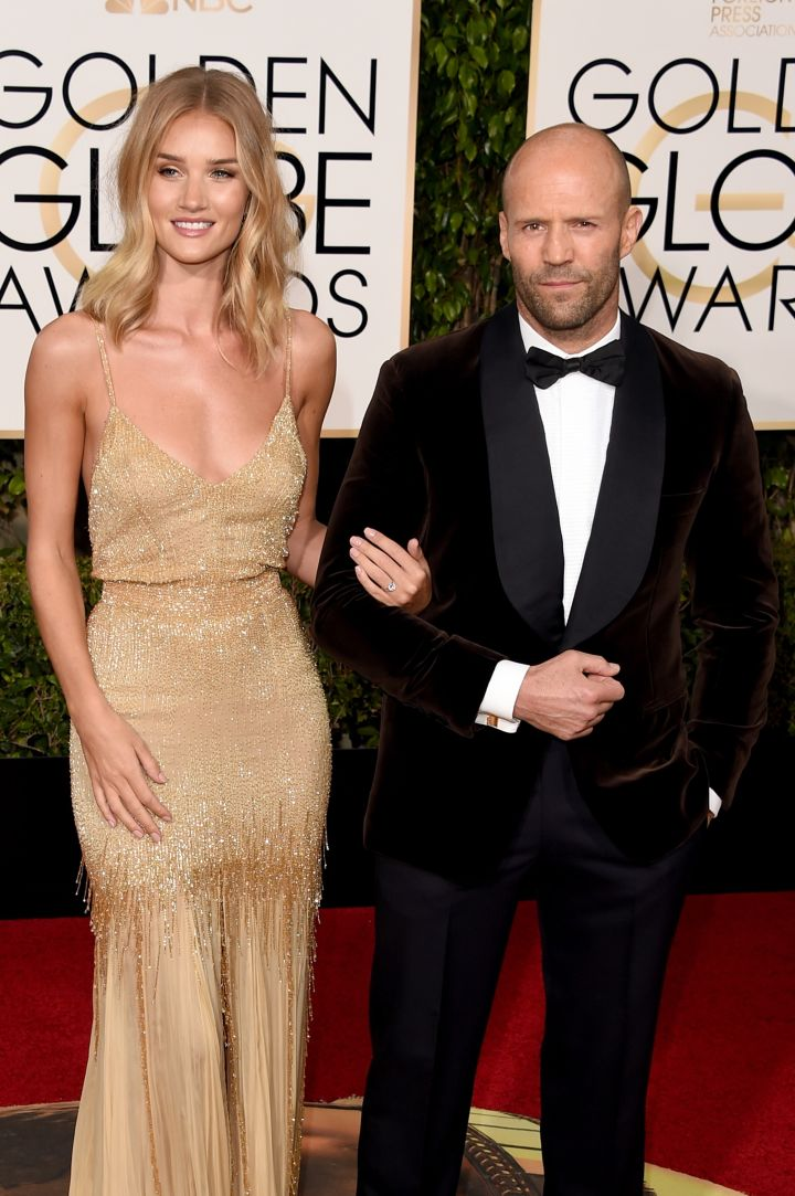 Rosie Hungtington-Whiteley and Jason Statham. How gorgeous does Rosie look?