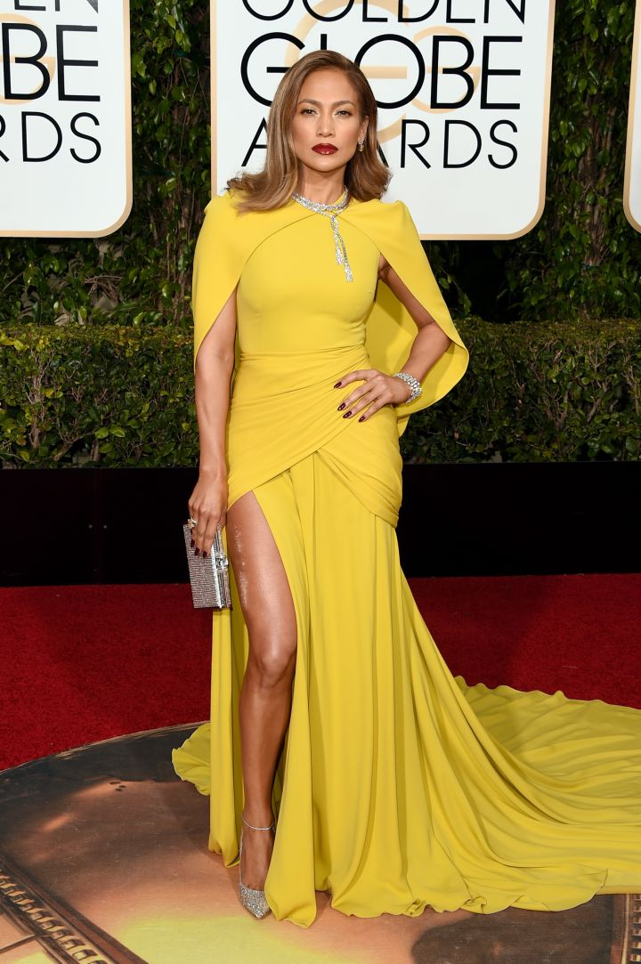 Jennifer Lopez slayed, per usual. Rocking dazzling stilettos and a thigh-high slit, could this be a best dressed nominee?