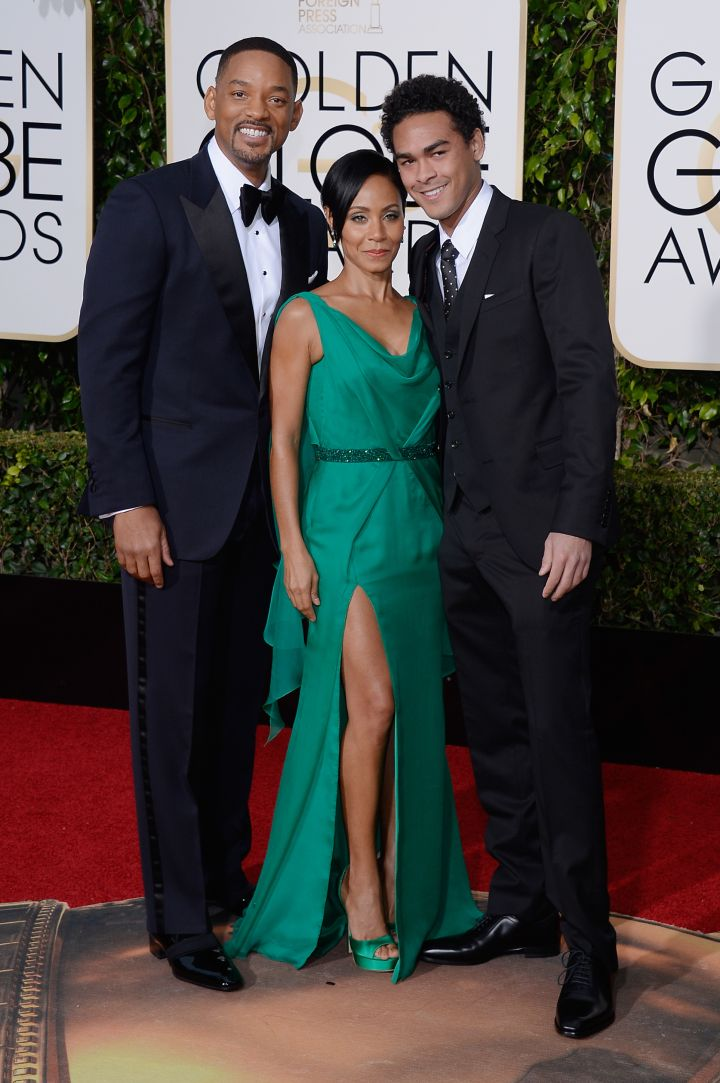 The Smith's have arrived. Will & Jada brought their son Trey for the night's festivities.