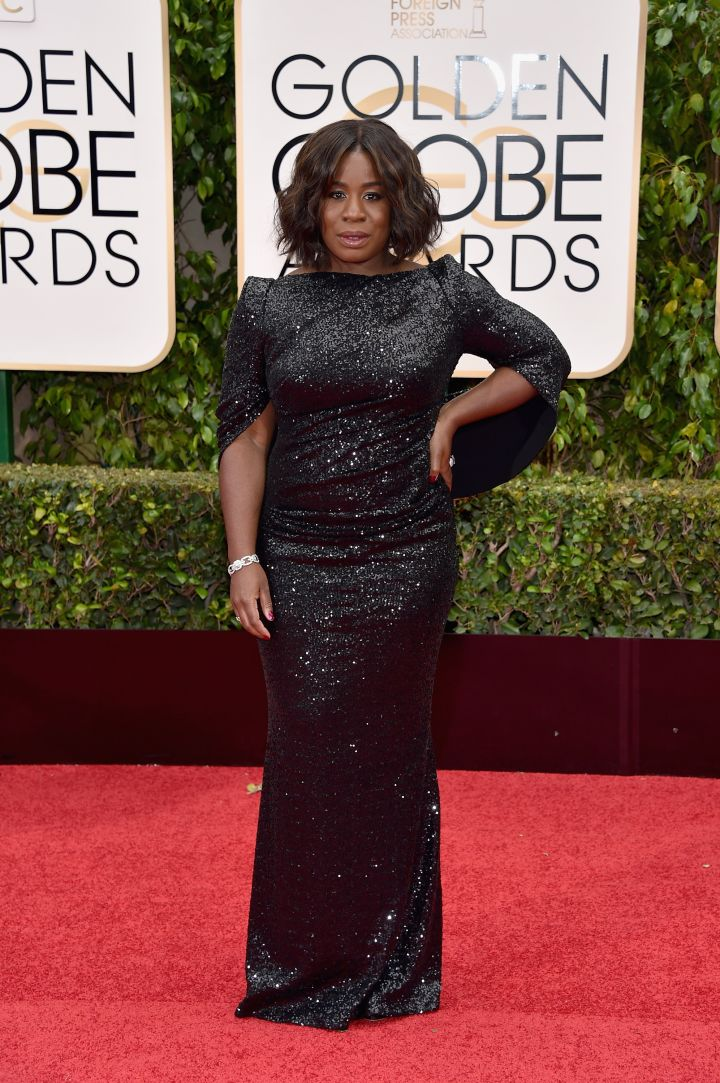 OITNB and The Wiz star Uzo Aduba arrived in head-to-toe sequin.