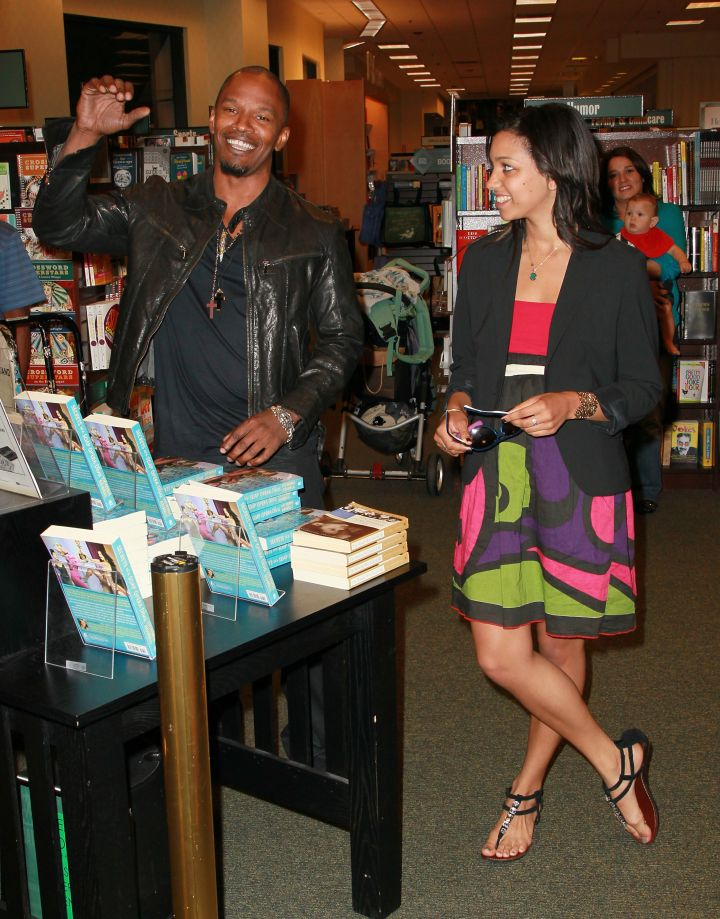 Jamie had his daughter Corinne Foxx by his side at a book signing for Victoria Rowell's 'Secrets of a Soap Opera Diva' at Barnes & Noble Booksellers at The Grove back in 2010.