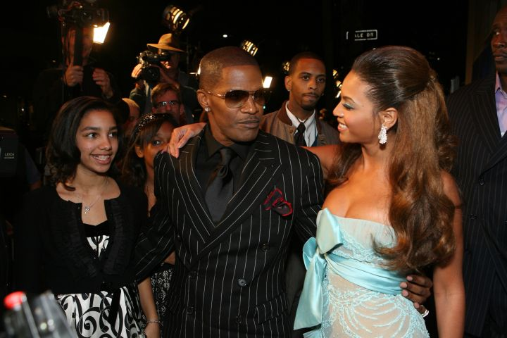 Corinne Jamie Foxx and Beyonce during the Los Angeles Premiere of Dreamworks Pictures' and Paramount Pictures' 'Dreamgirls' at Wilshire Theater in Beverly Hills.