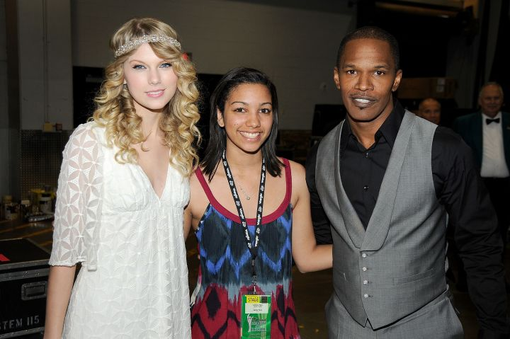 Super Dad! Taylor Swift got to meet Corinne at the 44th annual Academy Of Country Music Awards' Artist of the Decade held at the MGM Grand on April 6, 2009.