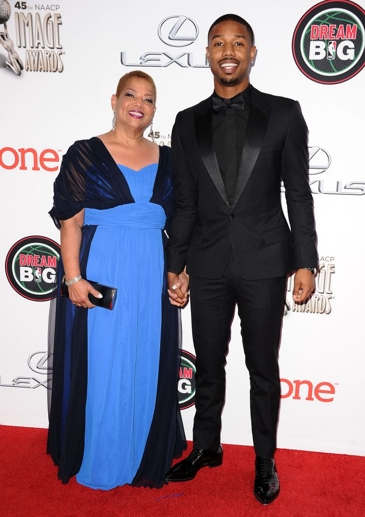 Michael B. Jordan brought his mother, Donna Jordan, to the NAACP Image Awards in 2014.
