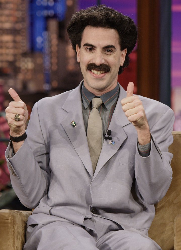 """Sacha Baron Cohen's """"Borat"""" topped the box office, sparking a lot of controversy. Baron Cohen won a Golden Globe for Best Actor: Musical or Comedy."""