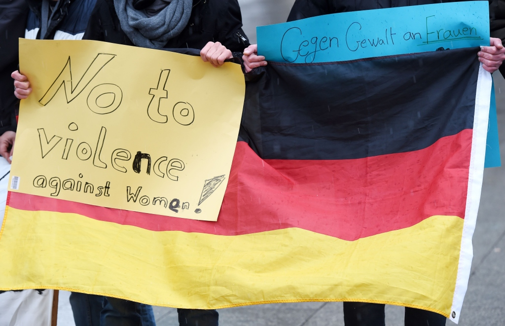 GERMANY-COLOGNE-EUROPE-MIGRANTS-PROTEST