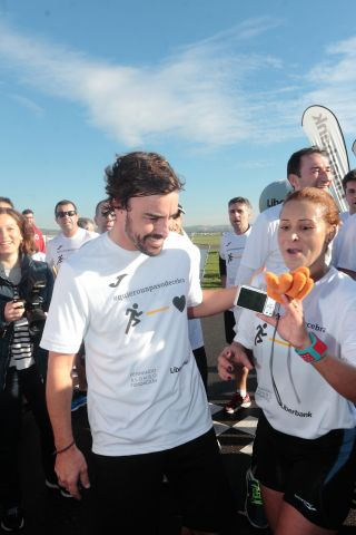 Fernando Alonso Attends Charity Race In Asturias
