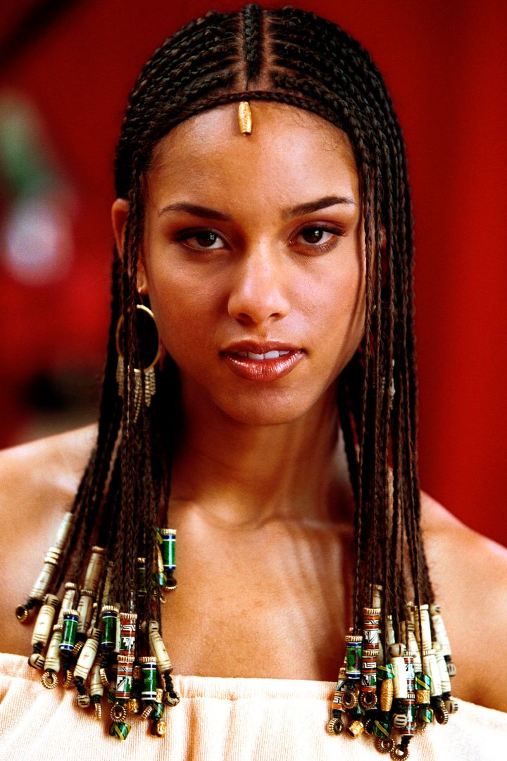 Admit it – you wanted Alicia Keys' cornrows in middle school.
