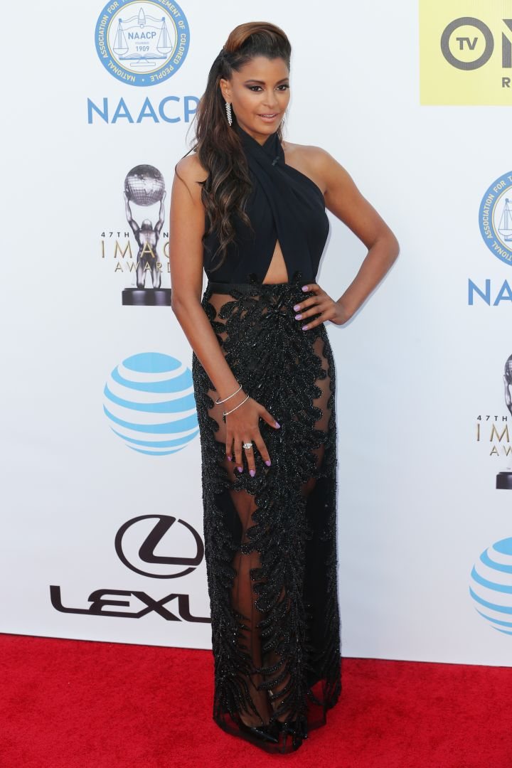 Claudia Jordan in head-to-toe black.