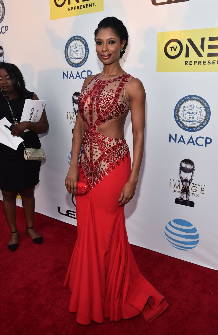 The lady in red: reality star Jennifer Williams.