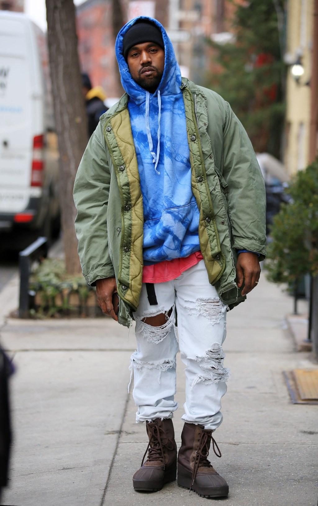 Kanye West shopping in West Village