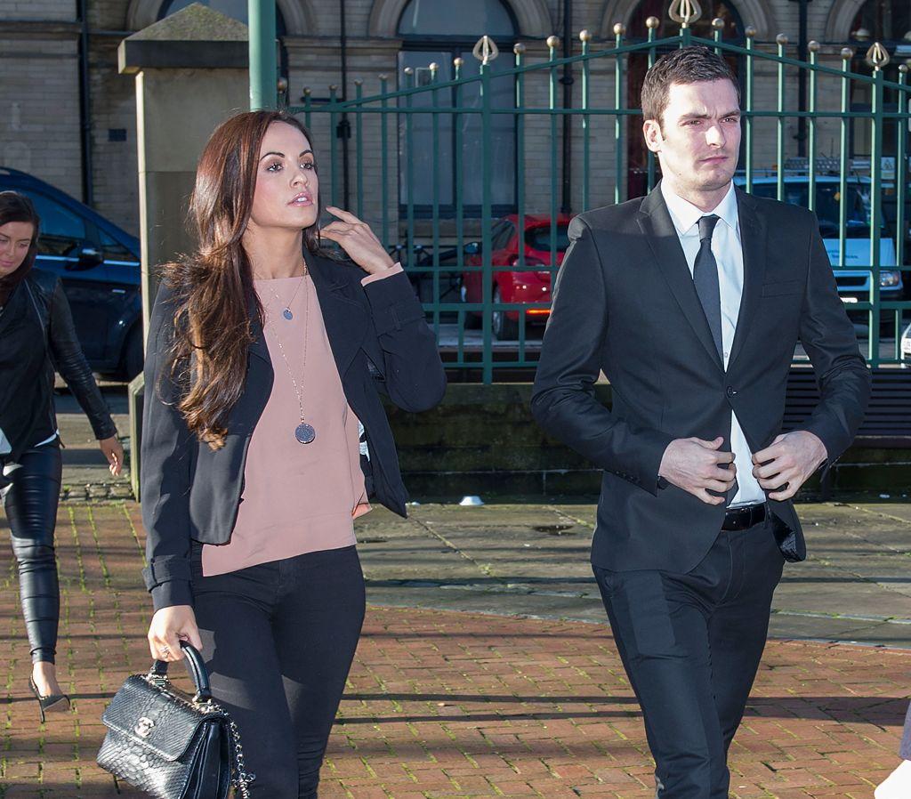 Adam Johnson & girlfriend Stacey Flounders, court Feb. 10th