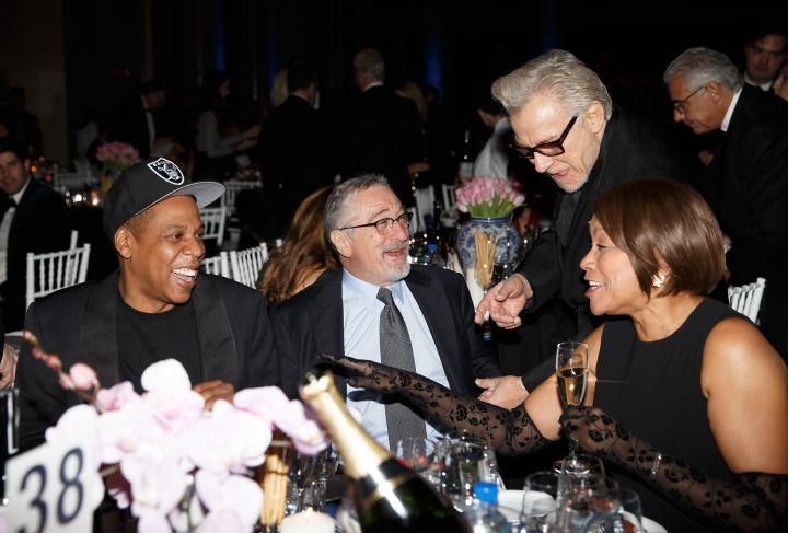 Jay Z, Robert De Niro, and His Wife Grace Hightower