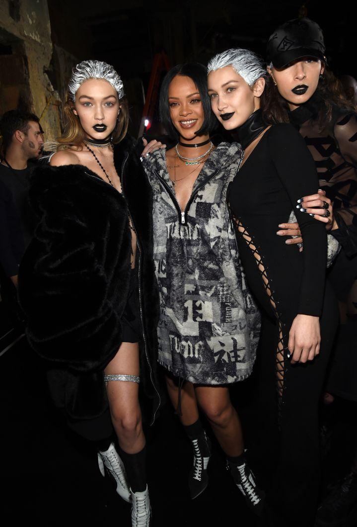 Rihanna and the Hadid sisters